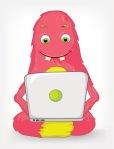 Funny Monster. Coder.