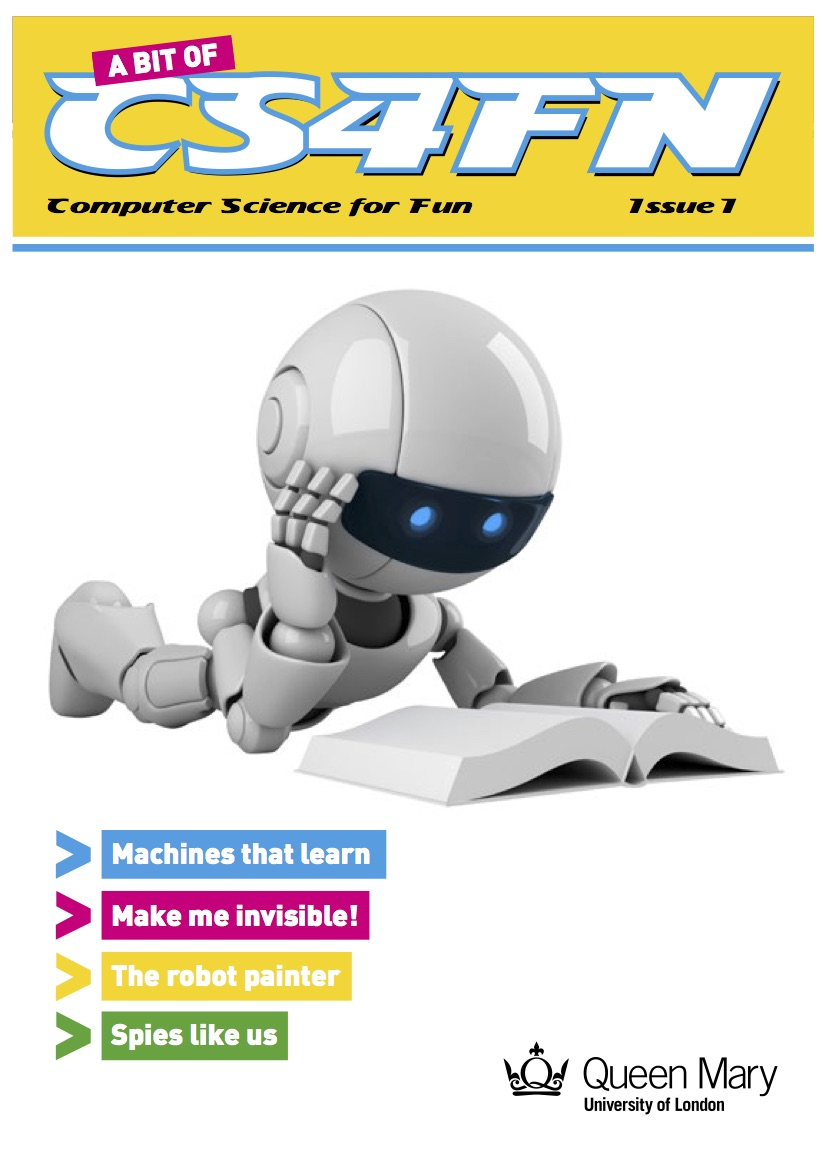 "The cover of ""A bit of cs4fn"" magazine"
